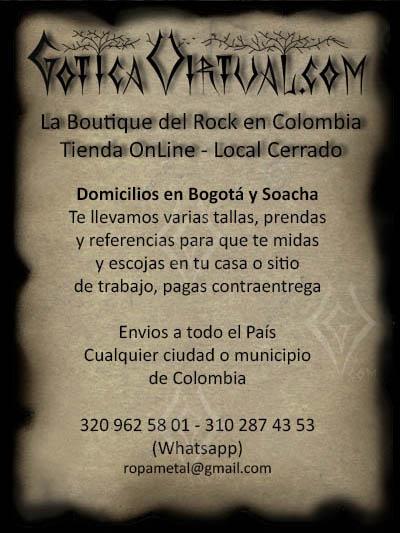 Centro Comercial Social del Restrepo Barrio Restrepo tienda Erzebeth ropa metalera rockera gotica femenina