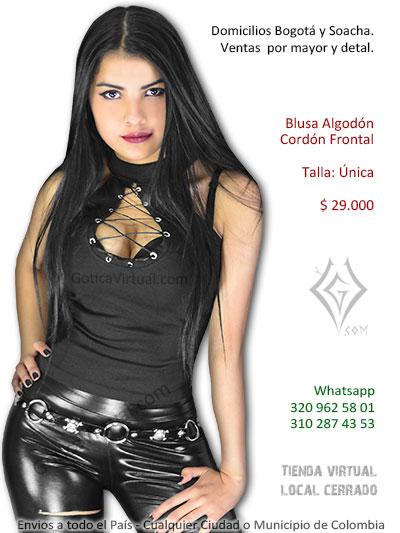 268c69ef4 blusa cordon pecho escote bonita economica venta online rock metal bogota  chia casanare cesar tunja huila