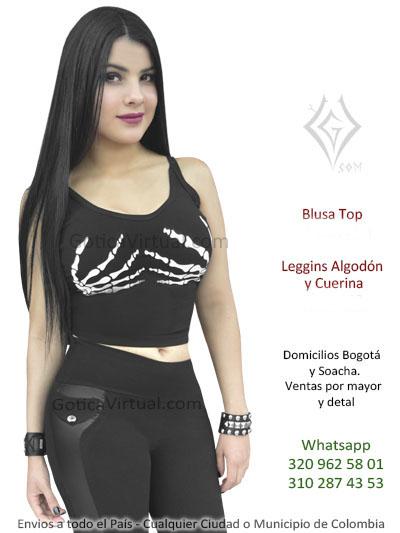 dfc9514d2 Blusas Bogota Goticas Metaleras Rockeras Brillantes Blonda Manga ...