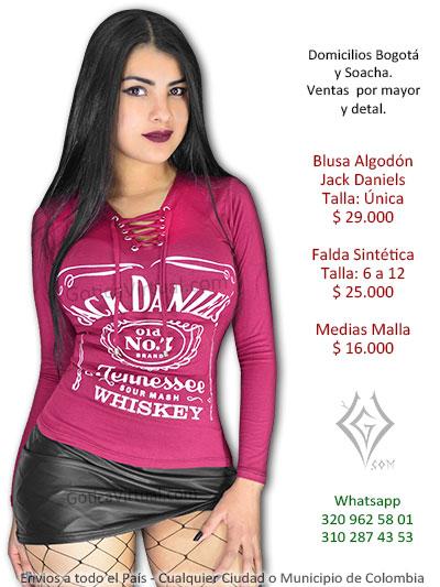 1e7f7ca40 blusa vinotinto algodon jack daniels venta online rock metal chica  domicilios bogota usme suba soacha americas