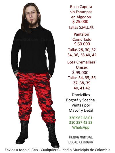 precio competitivo 868b9 9f015 Camuflados Bogota Pantalones para Dama Caballero Gris Azul ...