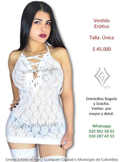 23e77bc01 vestido blanco blonda erotico sexy chica lenceria venta online envios  domicilios bogota bosa alameda quirigua cortijo