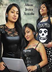 tienda punk rock metal gotico colombia ventas por mayor y detal modelo jesica acevedo